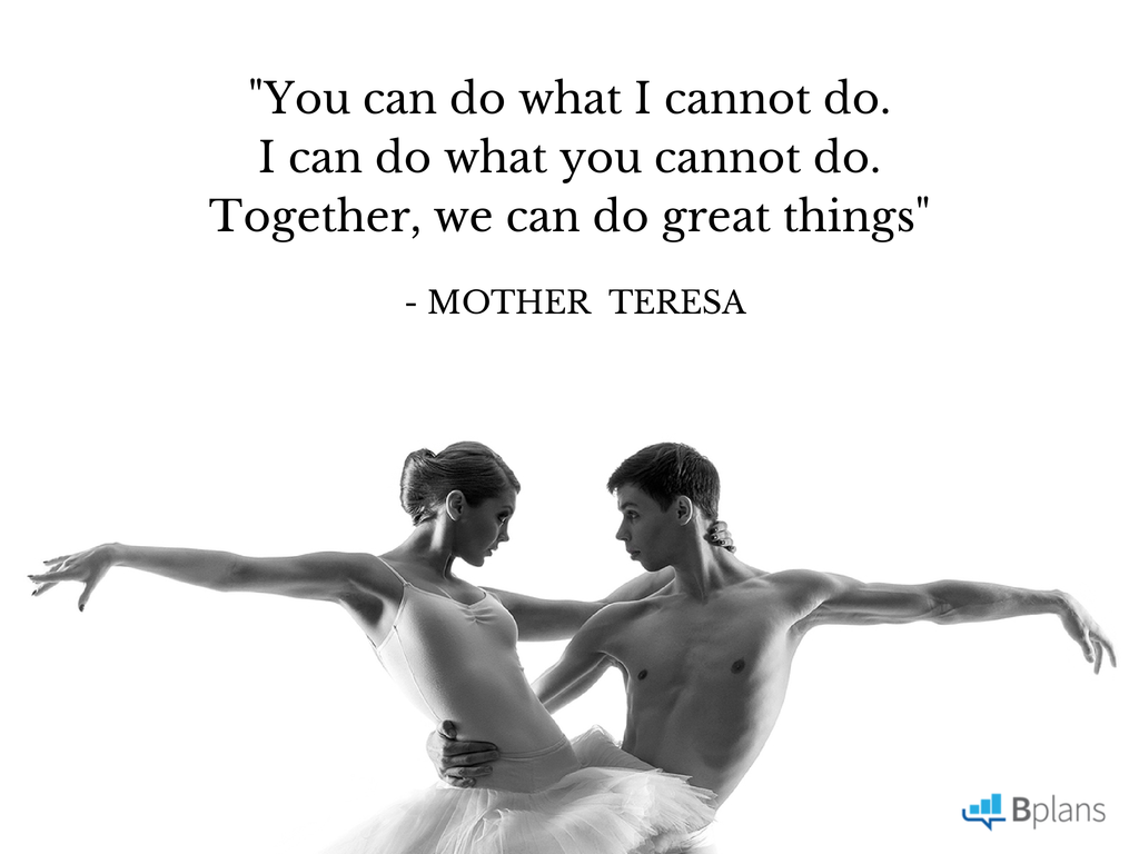 """You can do what I cannot do. I can do what you cannot do. Together, we can do great things."" - Mother Teresa; Tweet this!"