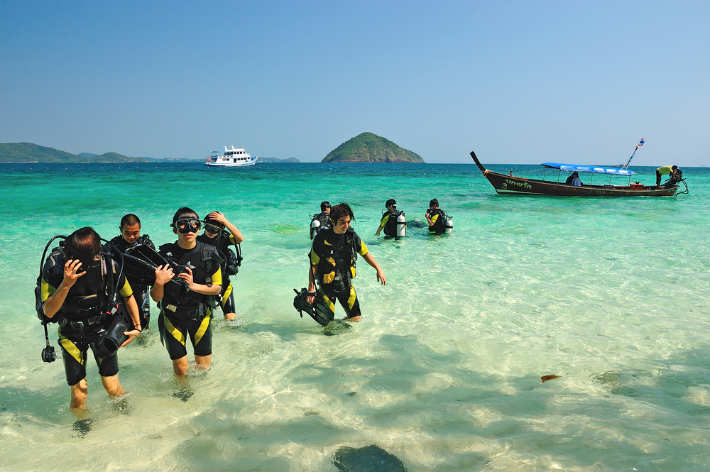 scuba diving tour business
