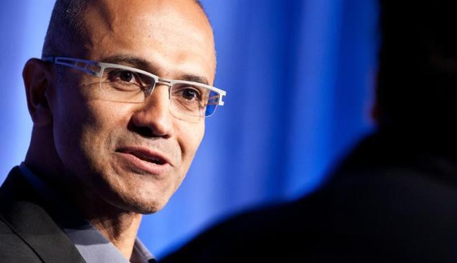 Microsoft CEO Satya Nadella, image via winbeta.org