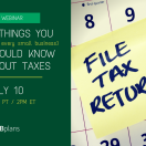 4 Things You (and Every Small Business) Should Know About Taxes [FREE WEBINAR]