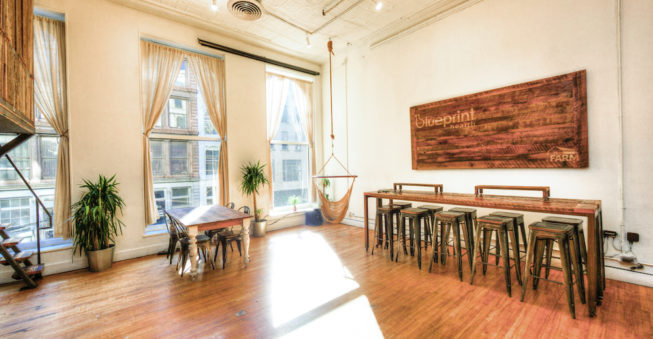 The Farm, a coworking space based in NYC