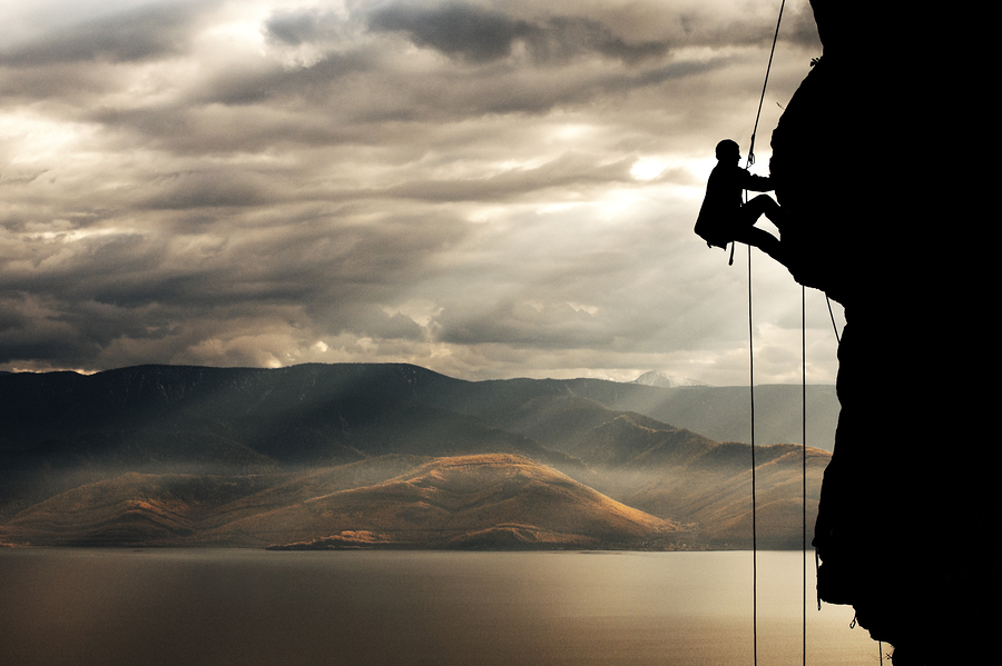 Mountain climber; scaling a business concept