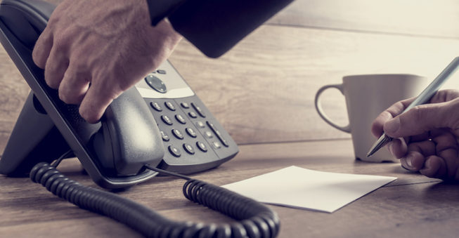 Answering phone call; customer complaints concept