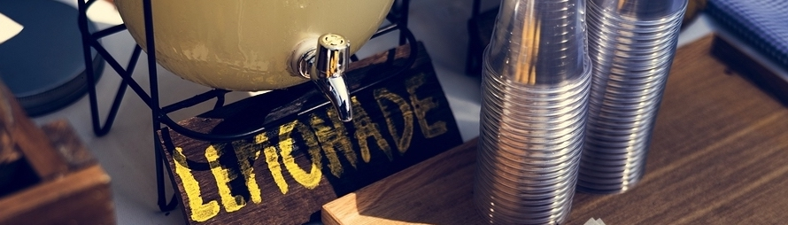 Lemonade stand; small business concept