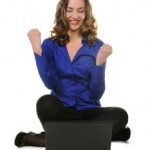 bigstockphoto_The_Woman_Sits_Before_Laptop_6810697-233x300
