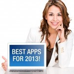 Woman showing the best productivity apps for 2013