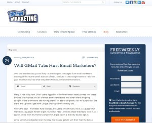 Duct Tape Marketing blog