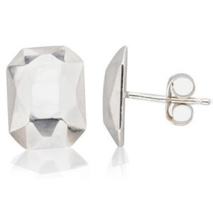 Metalicious earrings on a white background