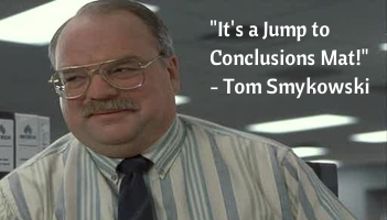 it's a jump to conclusions mat