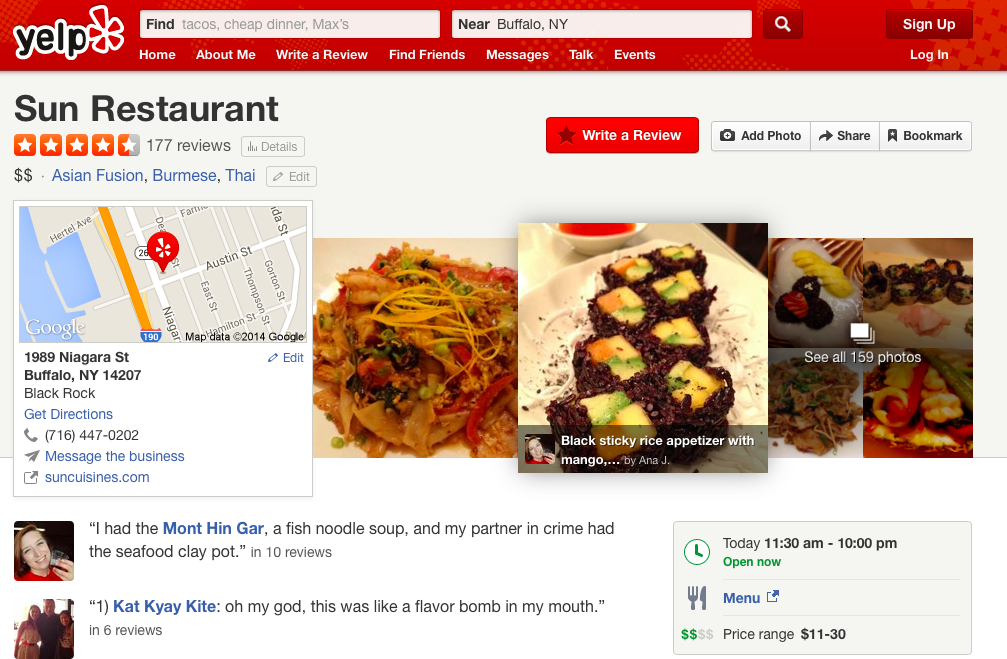 A look at YELP.