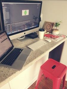 Lindsay's workspace.