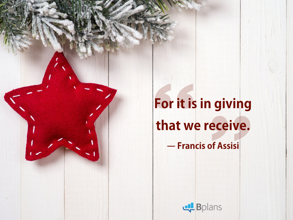 Quotes About Donating Pleasing 13 Quotes On The Joy And Importance Of Giving  Bplans