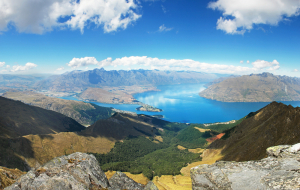 Queenstown, New Zealand, where the Lord of The Rings movies were filmed.