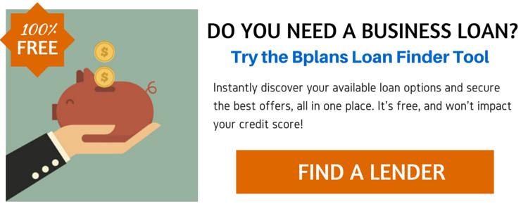 Bplans Loan Finder Tool CTA