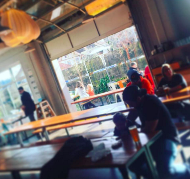 The new Falling Sky Brewery even opens up onto a garden.