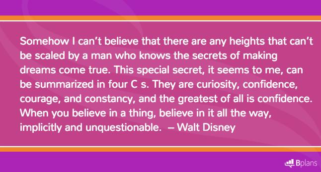 Self belief walt disney inventing things