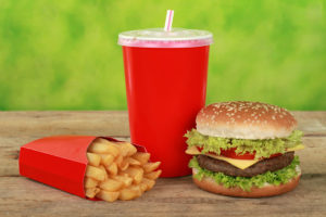 Quarterpounder combo meal with french fries and a cola drink