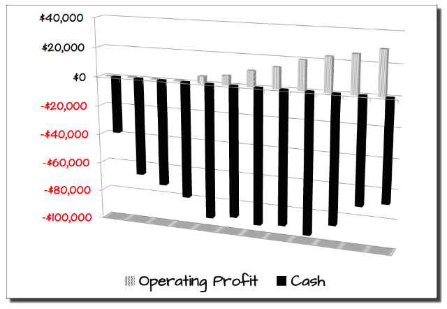 cash versus profits