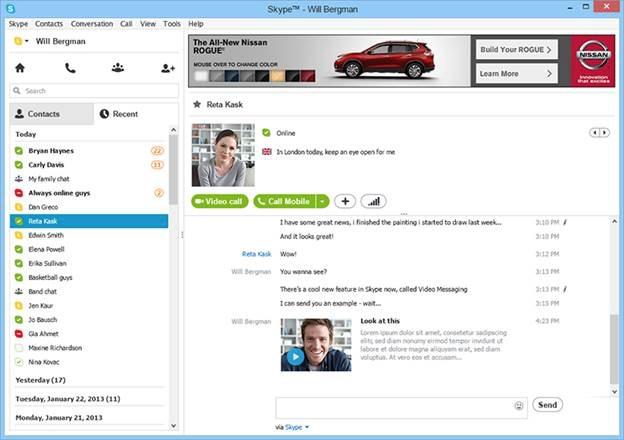 Skype ads