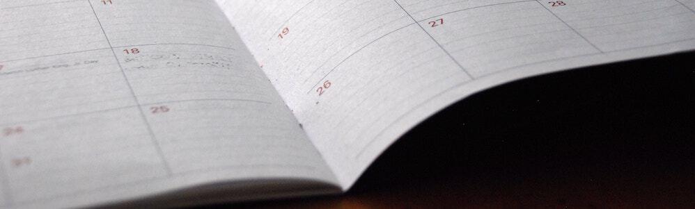 Planner; work life balance concept