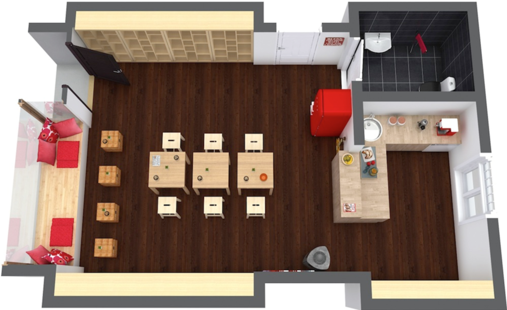 13 tips to open a successful coffee shop bplans for Coffee shop floor plan with dimensions