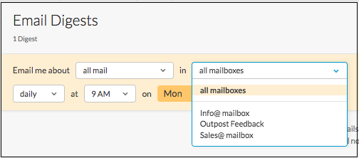 Outpost email digest