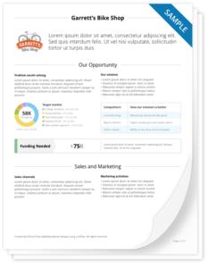 PDF business plan