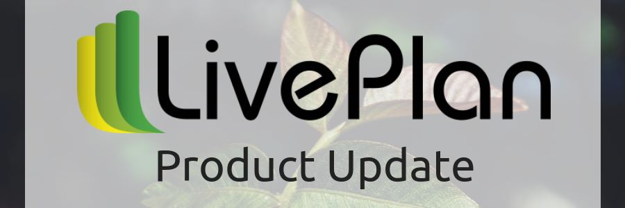 LivePlan Update: Cash Flow and Balance Sheet on the Dashboard