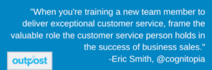 image of Eric Smith's customer satisfaction quote highlighting the importance of the customer for successful business