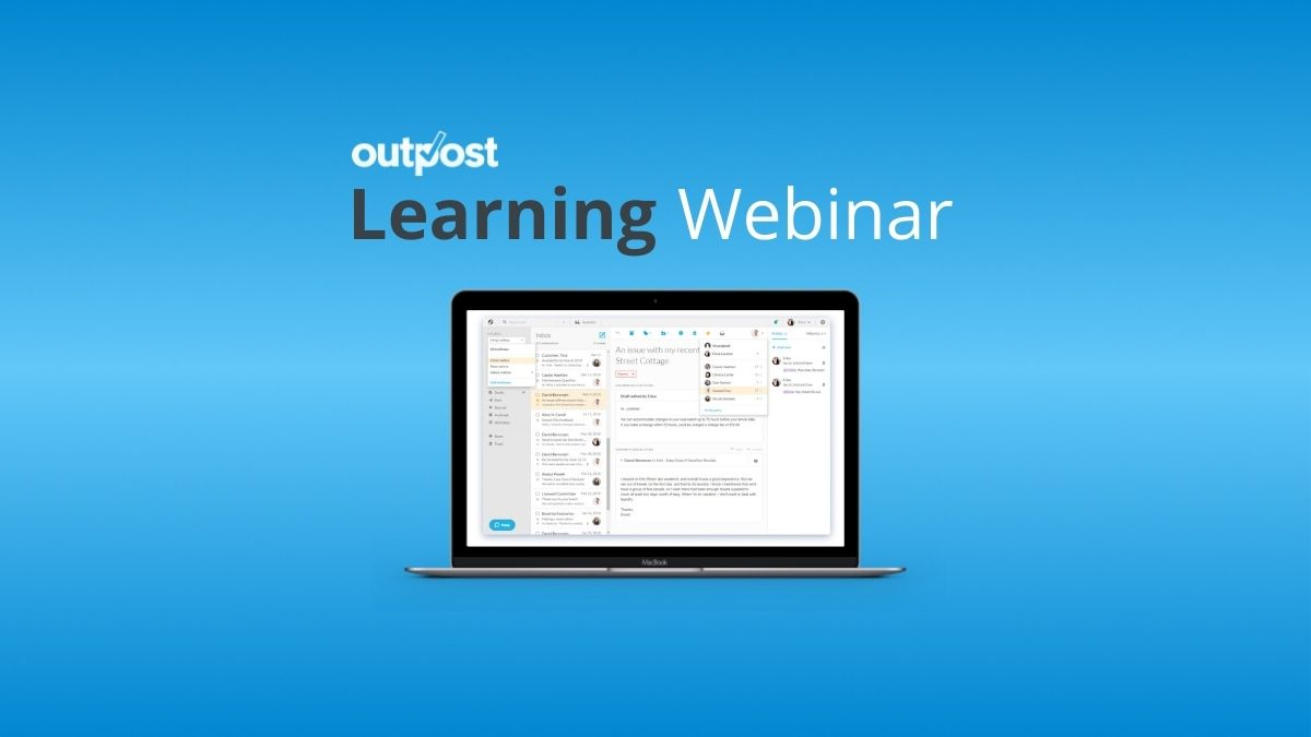 Are you and your team bogged down by email? Sign up for our latest Outpost Learning Webinar to learn how to better manage your inbox