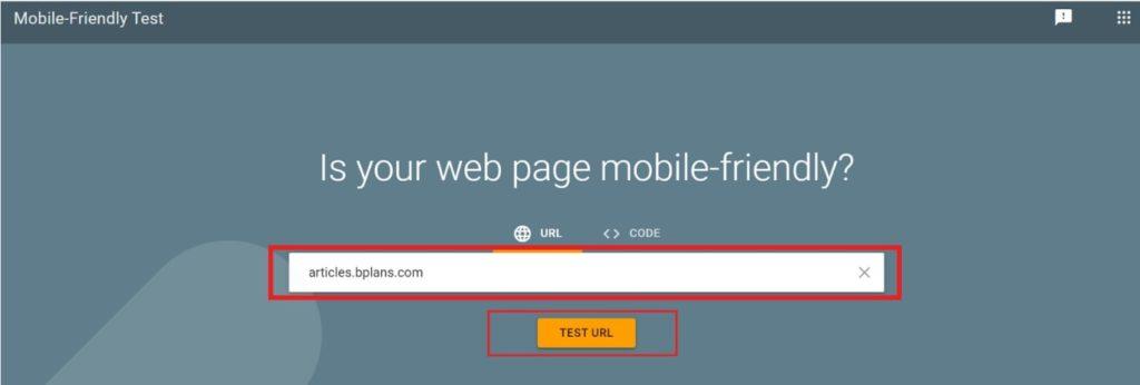 Google web test
