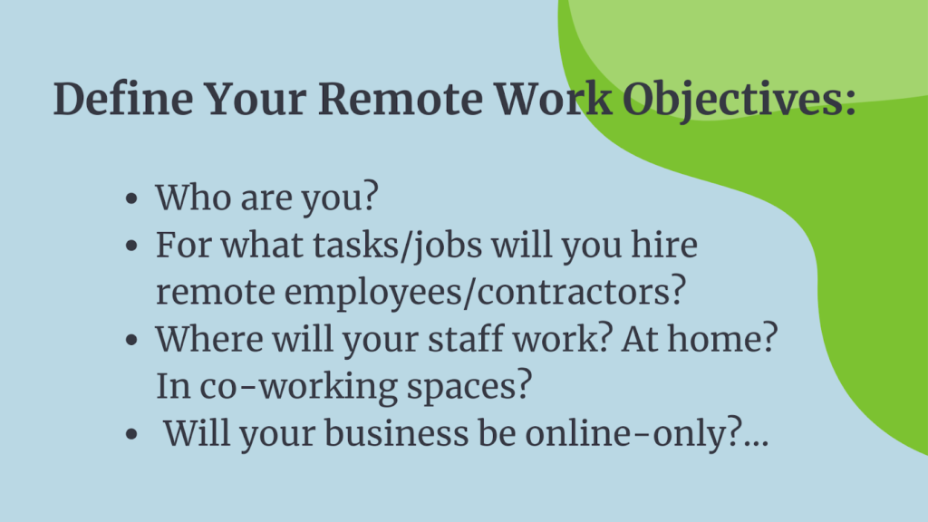 These are the questions you need to answer about your remote work plan