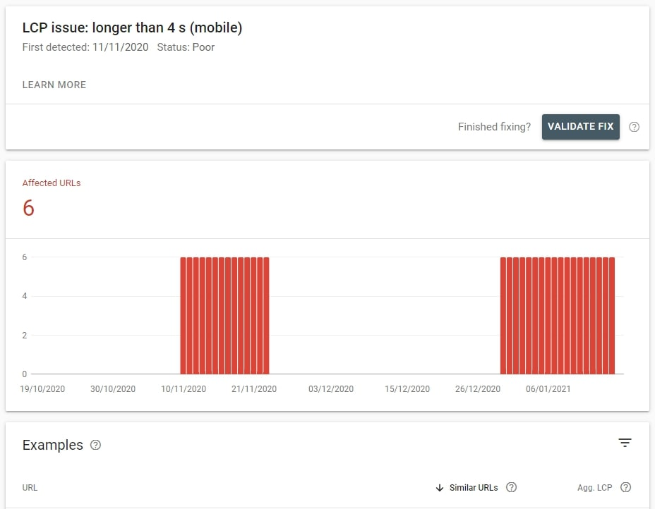 How to use Google Search Console to analyze LCP issues