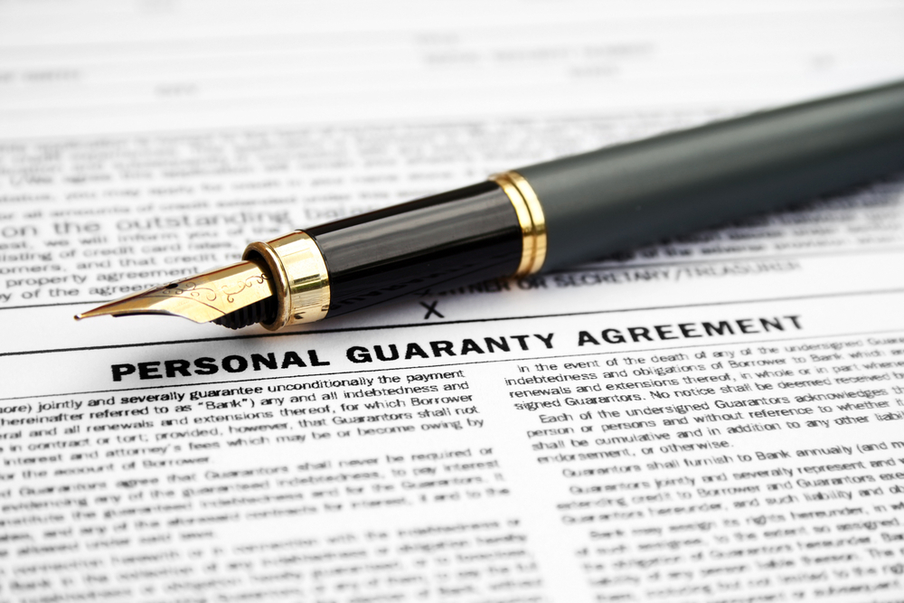 When And Why Should You Sign A Personal Guarantee To Secure