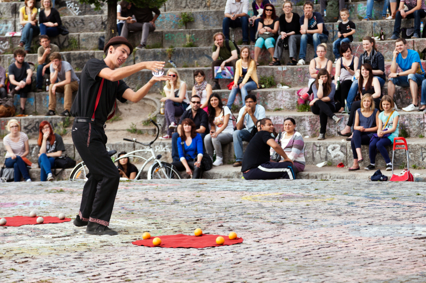 Street Performer at Mauerpark Amphitheater